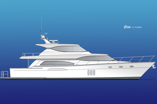 21.7m Elite Mid-Pilothouse